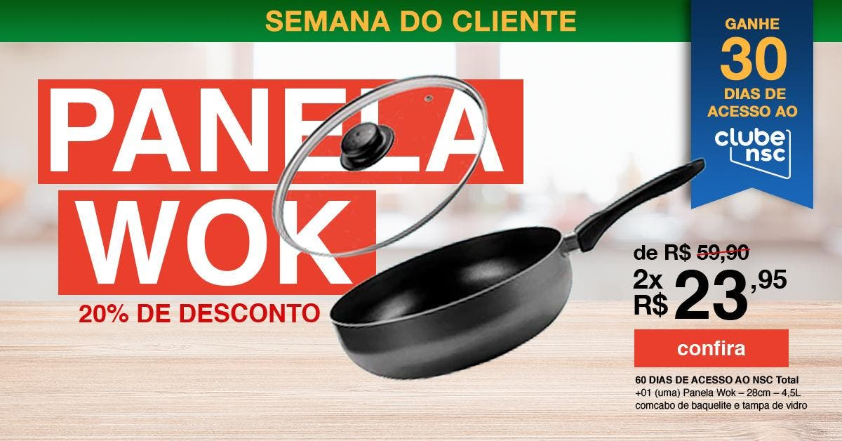 Panela Wok Kit da Hora Digital