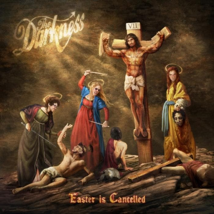 "Capa de ""Easter is Cancelled"", novo disco do The Darkness"