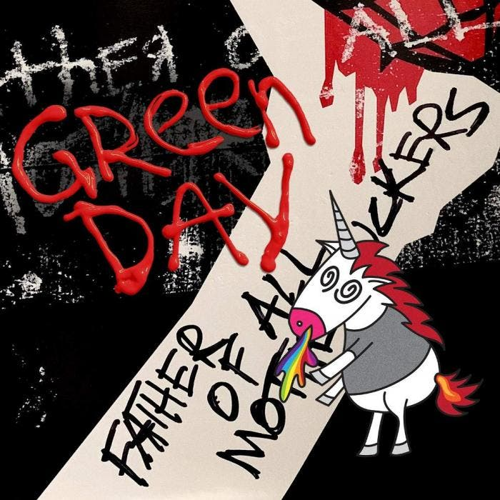 "Capa de ""Father of All Motherfuckers"", do Green Day"