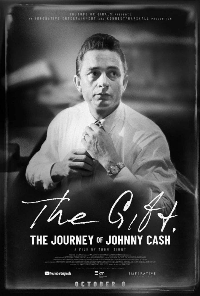 "Pôster do documentário ""The Gift: The Journey of Johnny Cash"""