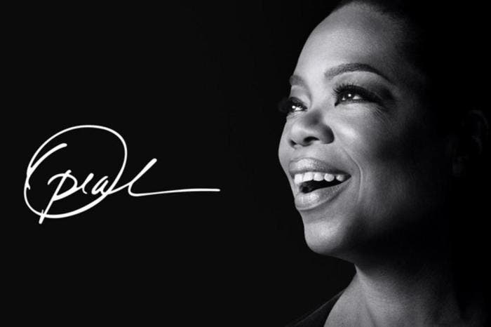 Cartaz do programa de Oprah na Apple TV+