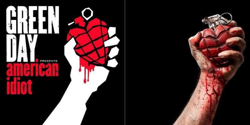 "Capa do álbum ""American Idiot"", do Green Day"