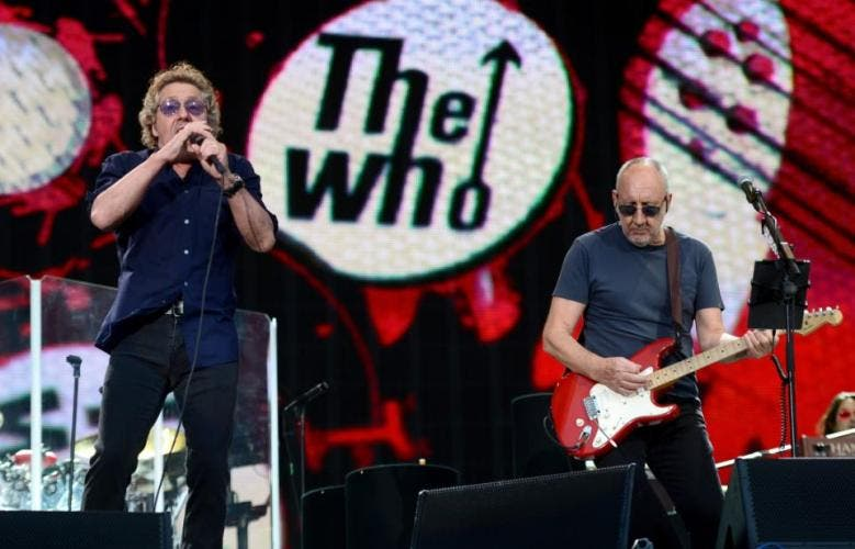 Roger Daltrey e Pete Townshend, do The Who