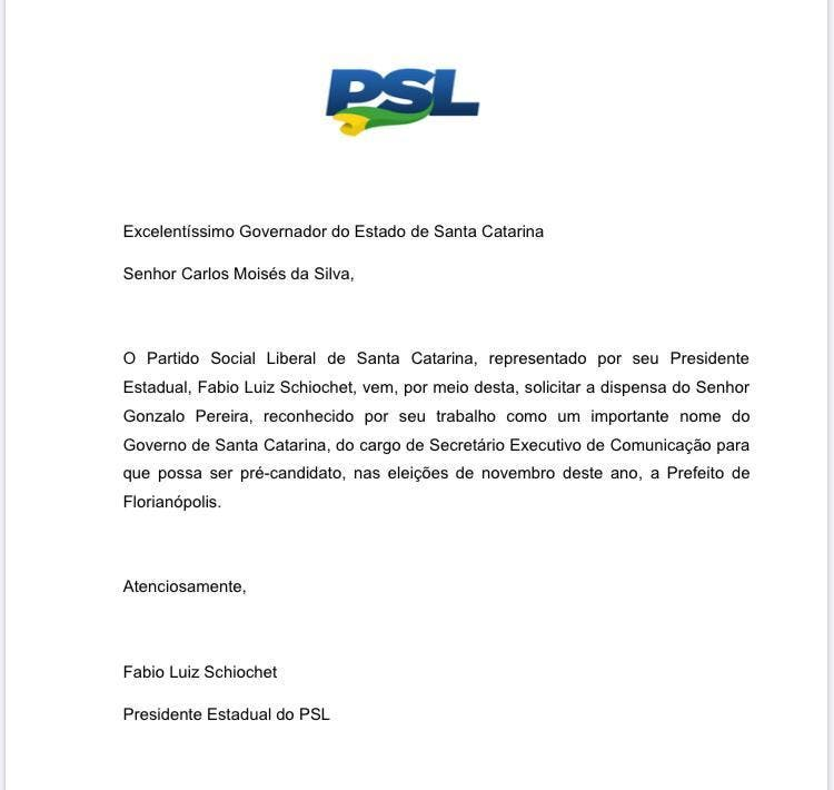 Documento do PSL-SC