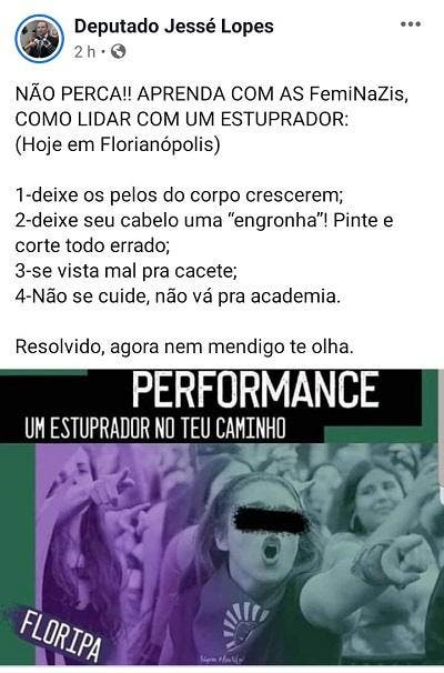post de Jessé Lopes