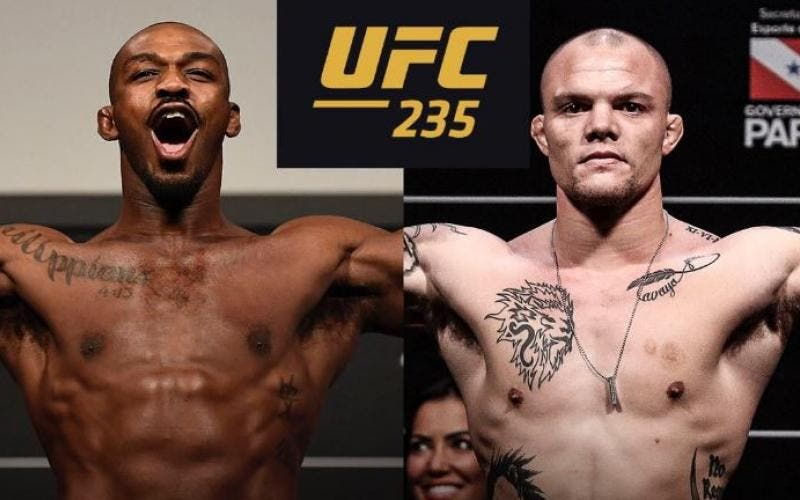 Jones e Smith vão se enfrentar na luta principal do UFC 235