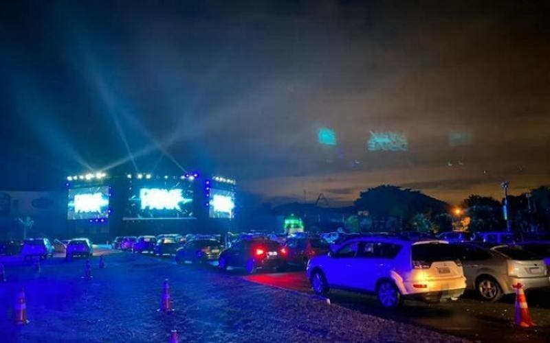 Evento drive-in no Norte da Ilha de SC