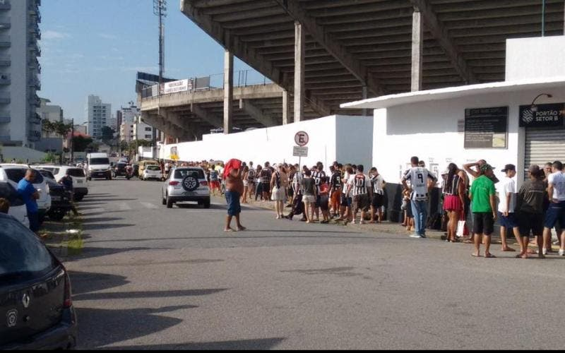 Torcida esgotou as entradas do setor C