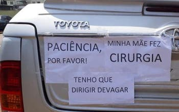Placas no carro