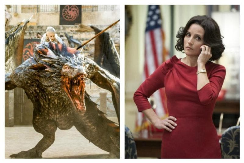 """Game of Thrones"" e ""Veep"", ambas séries da HBO"