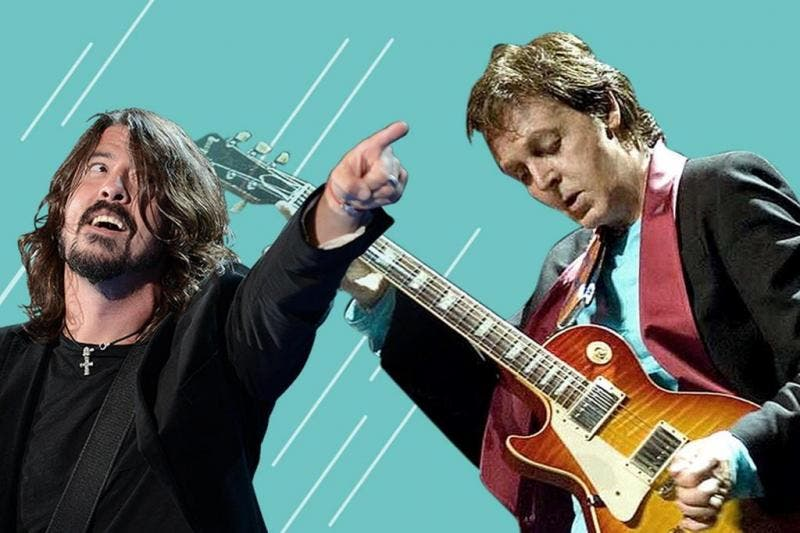 Dave Grohl e Paul McCartney