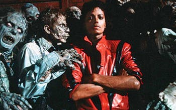 "Michael Jackson no clipe de ""Thriller"""