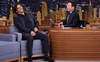 """O ator Wagner Moura no """"Tonight Show with Jimmy Fallon"""""""