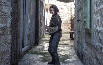 "Maisie Williams em ""Game of thrones"""