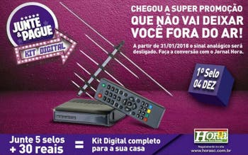 Novo Junte & Pague da Hora é kit de conversor digital